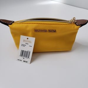 NWT Michael Kors XS Travel Pouch in Citrus